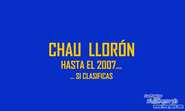 2005 - Chau Boca - Copa Libertadores 1